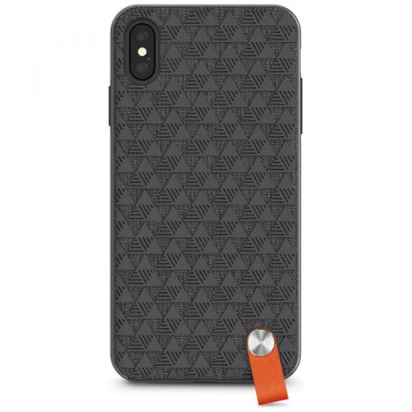 Чехол-накладка Moshi Altra Slim Hardshell Case With Strap Shadow Black for iPhone XS Max (99MO117002)