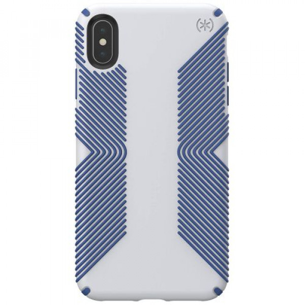 Чехол-накладка Speck for Apple iPhone Xs Max PRESIDIO GRIP Microchip Grey/Ballpoint Blue (SP-117106-7569)