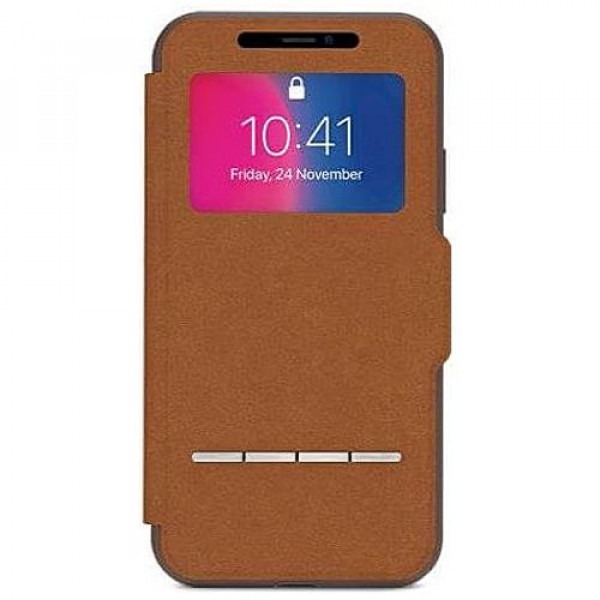 Чехол-книжка Moshi Sensecover Slim Portfolio Case with Touch Cover Caramel Brown for iPhone XS/X (99MO072731)