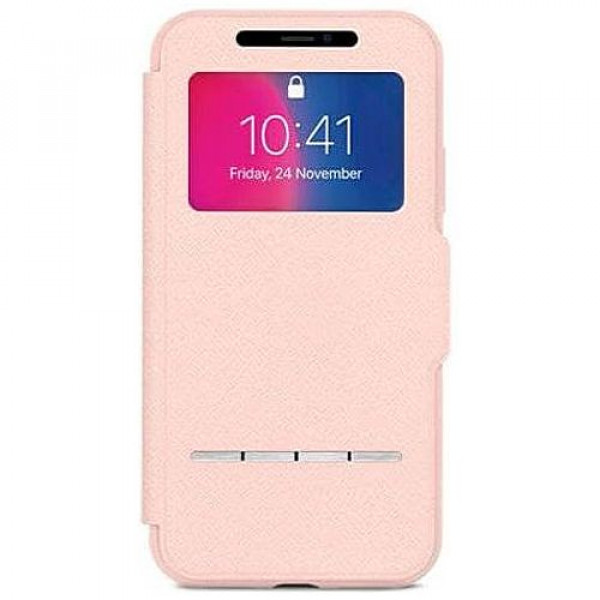 Чехол-книжка Moshi Sensecover Slim Portfolio Case with Touch Cover Luna Pink for iPhone XS/X (99MO072309)
