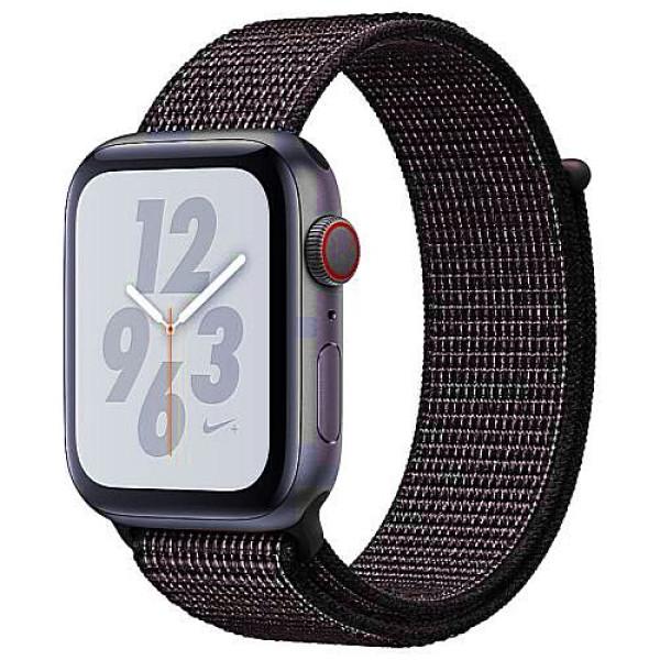 Apple WATCH Nike+ Series 4 GPS + Cellular 44mm Space Gray Aluminum Case with Black Nike Sport Loop (MTXD2)