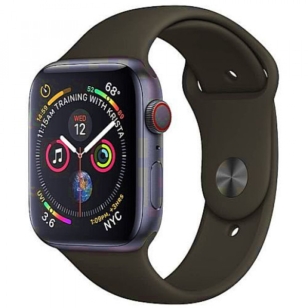 Apple WATCH Series 4 GPS + Cellular 44mm Space Gray Aluminum Case with Black Sport Band (MTUW2)