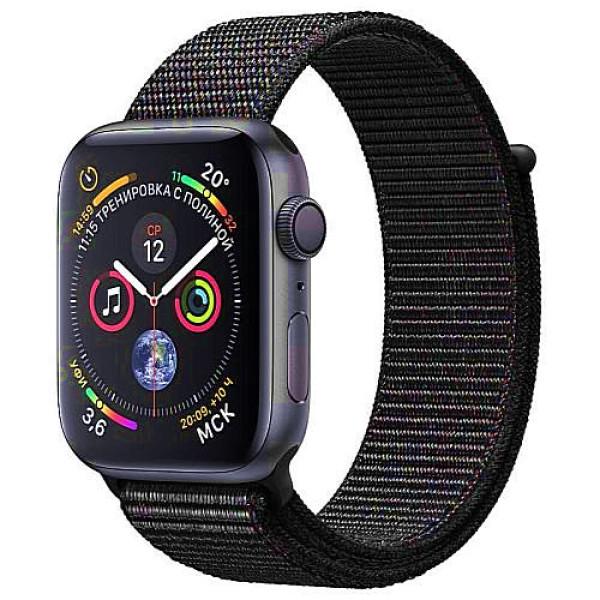 Apple WATCH Series 4 GPS 40mm Space Gray Aluminum Case with Black Sport Loop (MU672)