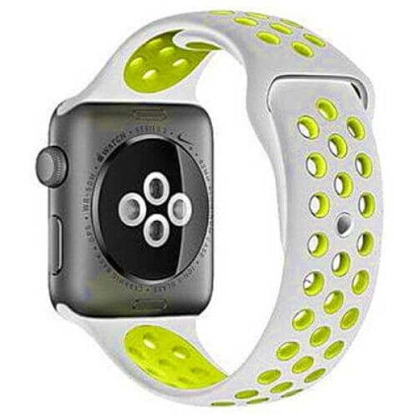 Ремешок COTEetCI W12 Apple Watch Nike band 38mm Grey/Yellow (WH5216-TS-YL)
