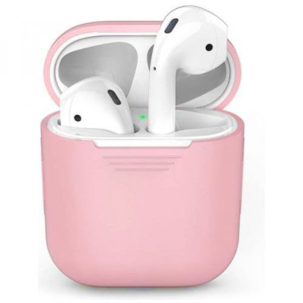 Чехол для наушников AhaStyle Silicone Case for AirPods Pink (X001GH10W9)