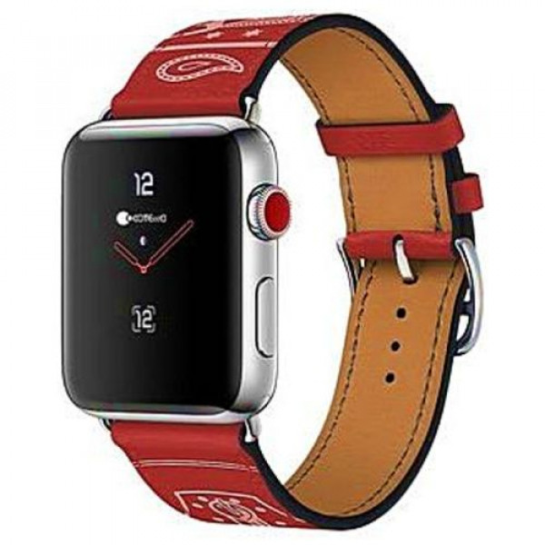 Ремешок COTEetCI W13 Fashion Leather for Apple Watch 38mm Red (WH5218-RD)