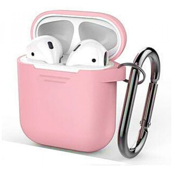 Чехол для наушников AhaStyle Silicone Case for AirPods with Belt Pink (X001JPSN69)