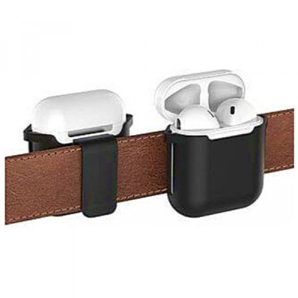 Чехол для наушников AhaStyle Belt Clip Case for AirPods Black (X001NNGOAT)