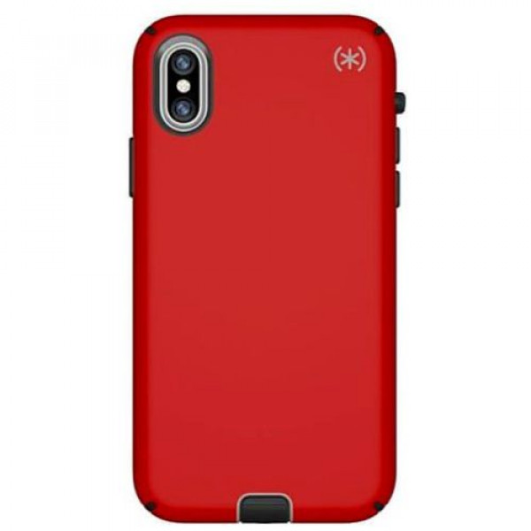 Чехол-накладка Speck for Apple iPhone XS/X Presidio Sport Heartrate Red/Sidewalk Grey/Black (SP-104443-6685)