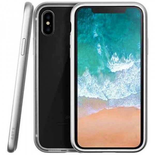 Чехол-бампер LAUT EXO-FRAME for iPhone X Silver (LAUT_IP8_EXI_SL)