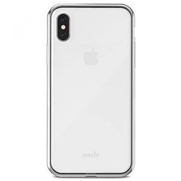 Чехол-накладка Moshi Vitros Slim Stylish Protection Case Jet Silver for iPhone X (99MO103201)