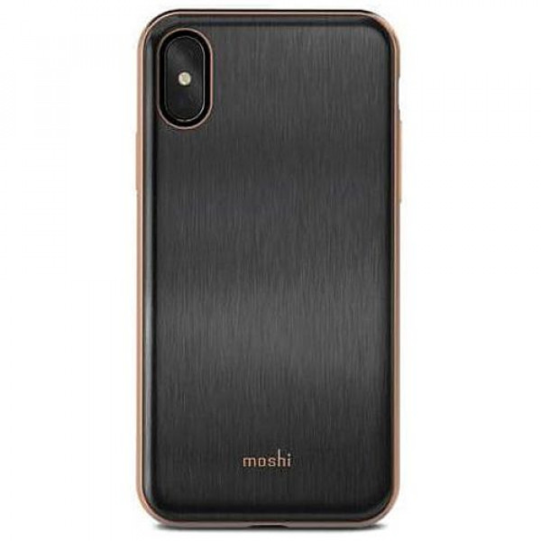 Чехол-накладка Moshi iGlaze Ultra Slim Snap On Case Armour Black for iPhone XS/X (99MO101001)