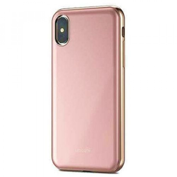 Чехол-накладка Moshi iGlaze Ultra Slim Snap On Case Taupe Pink for iPhone XS/X (99MO101301)