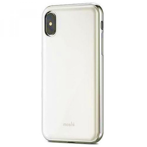 Чехол-накладка Moshi iGlaze Ultra Slim Snap On Case Pearl White for iPhone X (99MO101101)