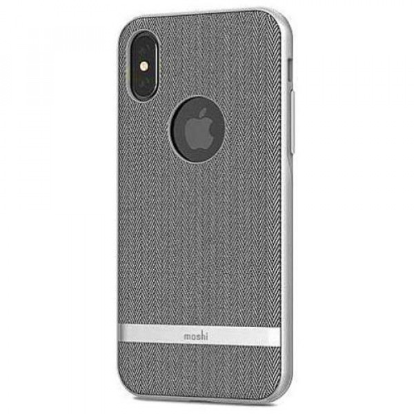 Чехол-накладка Moshi Vesta Textured Hardshell Case Herringbone Gray for iPhone XS/X (99MO101031)