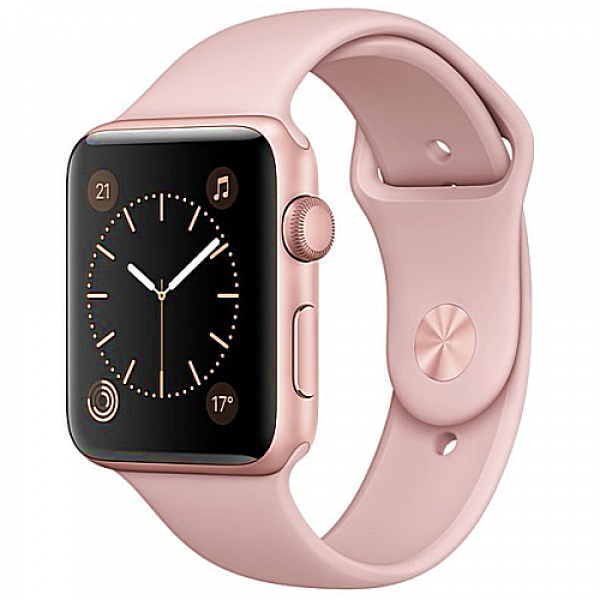 Apple WATCH Series 2, 42mm Rose Gold Aluminium Case with Pink Sand Sport Band (MQ142)