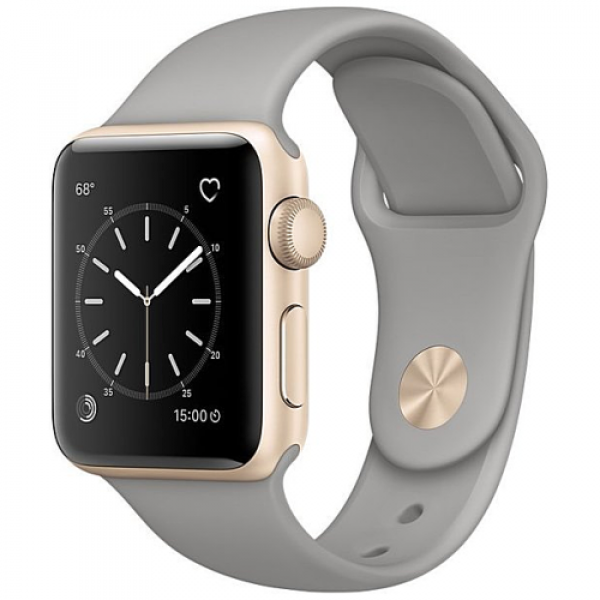 Apple WATCH Series 2, 38mm Gold Aluminium Case with Concrete Sport Band (MNP22)
