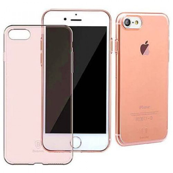 Чехол-накладка Baseus Simple Series Case (Clear) For iPhone7/8 Transparent Rose Gold