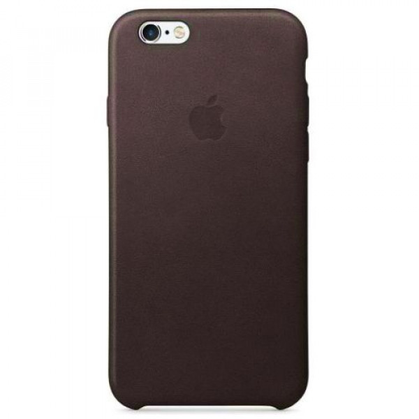 Чехол-накладка Apple iPhone 6S Leather Case Black MKXW2