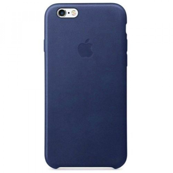 Чехол-накладка Apple iPhone 6S Leather Case Midnight Blue MKXU2