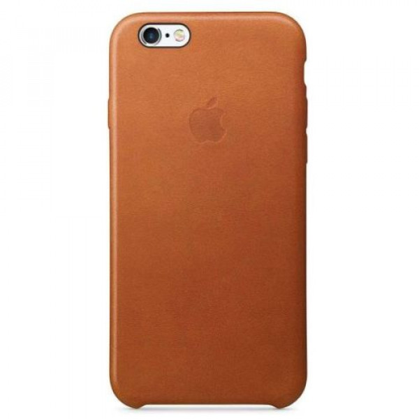 Чехол-накладка Apple iPhone 6S Leather Case Saddle Brown MKXT2
