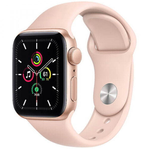 Apple WATCH SE 40mm Gold Aluminium Case with Pink Sport Band (MYDN2)