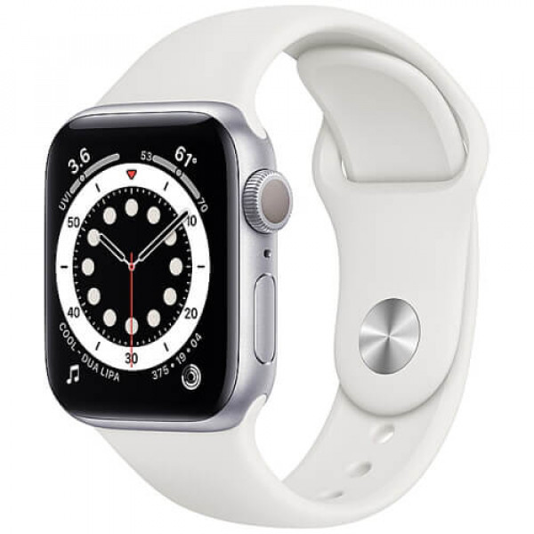 Apple WATCH Series 6 40mm Silver Aluminium Case with White Sport Band (MG283)