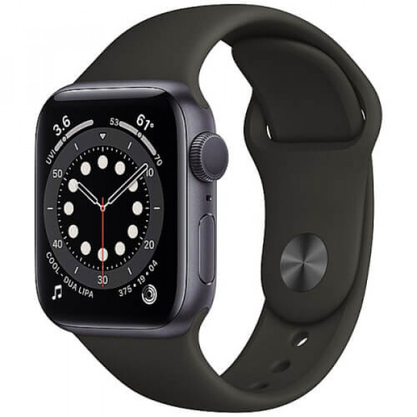 Apple WATCH Series 6 40mm Space Gray Aluminium Case with Black Sport Band (MG133)