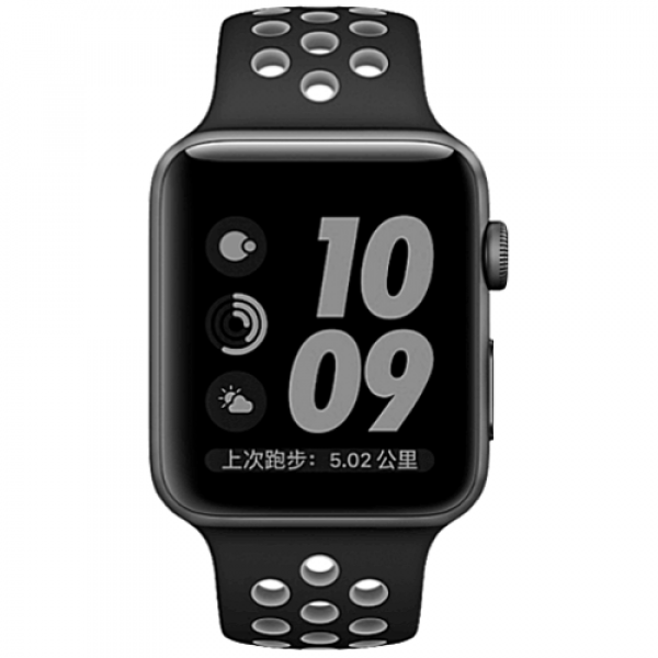 Ремешок COTEetCI W12 Apple Watch Nike band 38mm Black/Grey (WH5216-BK-GY)