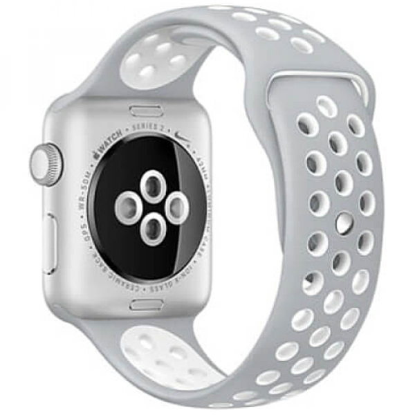 Ремешок COTEetCI W12 Apple Watch Nike band 38mm Grey/White (WH5216-TS-WH)