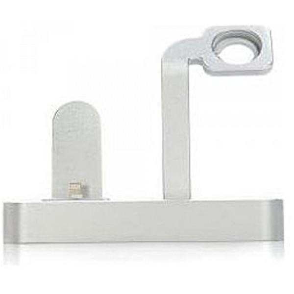Док-станция COTEetCI Base5 2-in-1 iPhone & Apple watch Stand Silver