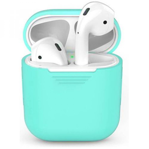 Чехол для наушников AhaStyle Silicone Case for AirPods Mint Green (X001JVA5ZP)