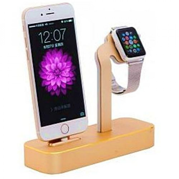 Док-станция COTEetCI Base5 2-in-1 iPhone & Apple watch Stand Gold