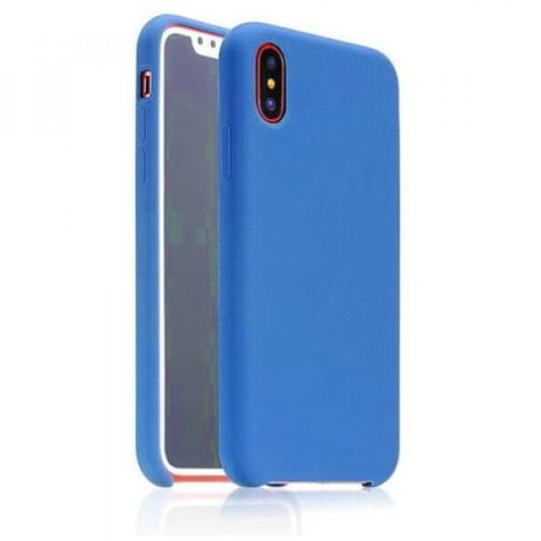 Чехол-накладка COTEetCI Silicon Case for iPhone X Navy (CS8012-BL)