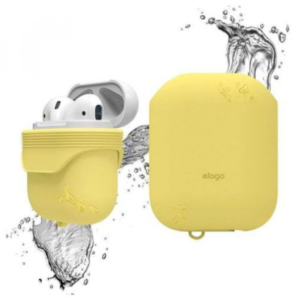 Чехол для наушников Elago Waterproof Case Creamy Yellow for Airpods (EAPWF-BA-CYE)