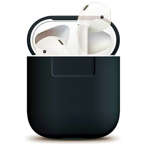 Чехол для наушников Elago Silicone Case for Airpods Black (EAPSC-BK)