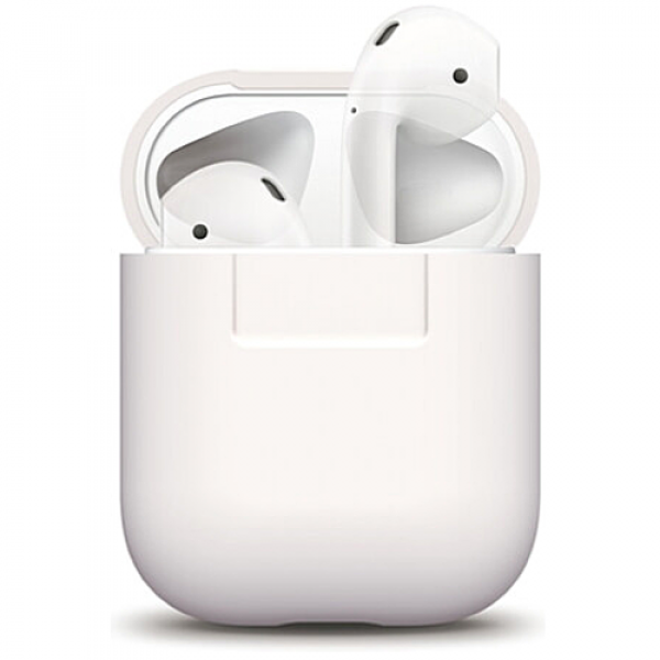 Чехол для наушников Elago Silicone Case for Airpods White (EAPSC-WH)