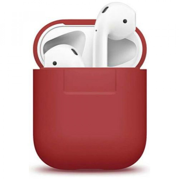 Чехол для наушников Elago Silicone Case Red for Airpods (EAPSC-RED)