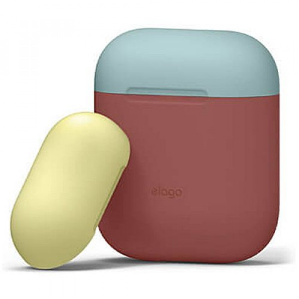 Чехол для наушников Elago Duo Case Italian Rose/Coral Blue/Yellow for Airpods (EAPDO-IRO-CBLYE)