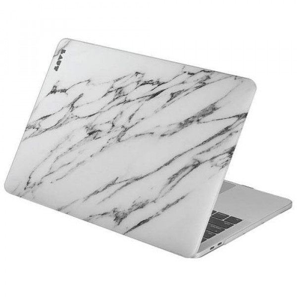 Чехол-накладка LAUT HUEX for MacBook Pro 13'' Marble White (LAUT_13MP16_HXE_MW)