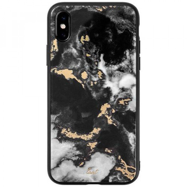 Чехол-накладка LAUT MINERAL GLASS for iPhone XS Max Marble Black (LAUT_IP18-L_MG_MB)