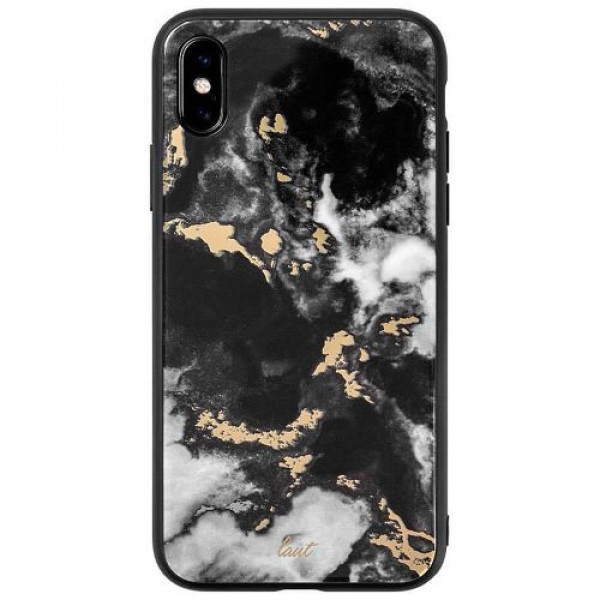 Чехол-накладка LAUT MINERAL GLASS for iPhone X/XS Marble Black (LAUT_IP18-S_MG_MB)