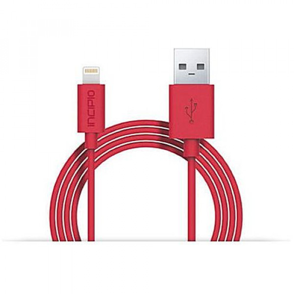 Кабель Incipio Charge/Sync Cable with Lightning Connector 1M Red (PW-184)