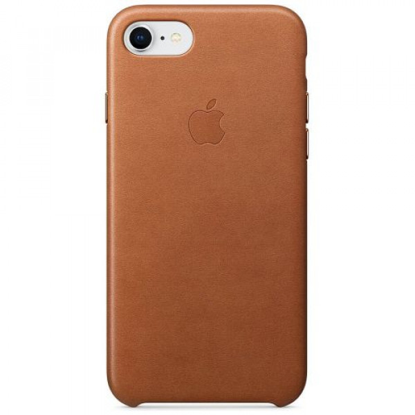 Чехол-накладка Apple iPhone 8/7 Leather Case Saddle Brown (MQH72)