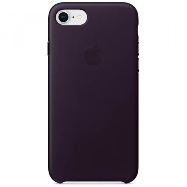 Чехол-накладка Apple iPhone 8 Leather Case Dark Aubergine (MQHD2)