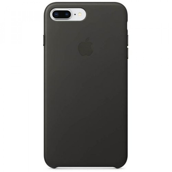 Чехол-накладка Apple iPhone 8Plus/7Plus Leather Case Charcoal Gray (MQHP2)