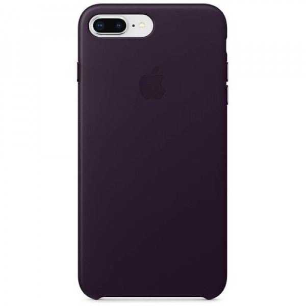 Чехол-накладка Apple iPhone 8Plus/7Plus Leather Case Dark Aubergine (MQHQ2)
