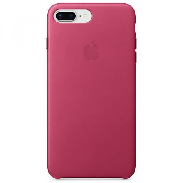 Чехол-накладка Apple iPhone 8Plus/7Plus Leather Case Pink Fuchsia (MQHT2)
