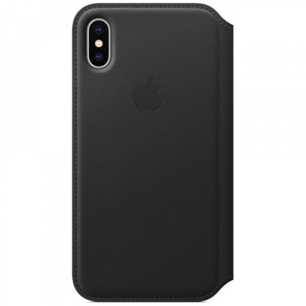 Чехол-футляр Apple iPhone X Leather Folio Black (MQRV2)