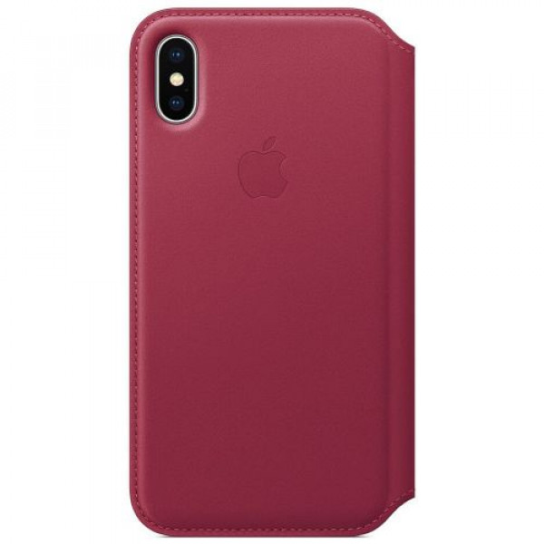 Чехол-футляр Apple iPhone X Leather Folio Berry (MQRX2)
